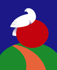 The Logo of the Danish Peace Academy by artist Carsten Rütting Schweitz.